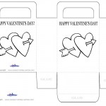 Printable B&W Hearts Valentine's Day Favorbag