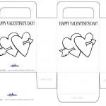 Printable B&W Hearts Valentine's Day Favorbag