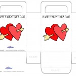 Printable Colored Hearts Valentine's Day Favorbag