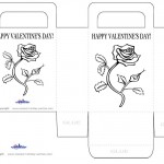 Printable B&W Flower Valentine's Day Favorbag