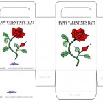 Printable Colored Flower Valentine's Day Favorbag