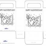 Printable B&W Love Heart Valentine's Day Favorbag