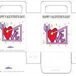 Printable Colored Love Heart Valentine's Day Favorbag
