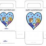 Printable Colored Love Valentine's Day Favorbag
