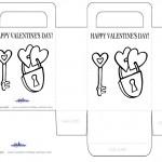 Printable B&W Lock / Key Valentine's Day Favorbag