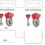 Printable Colored Lock / Key Valentine's Day Favorbag