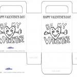 Printable B&W Valentine's Day Favorbag