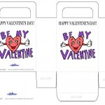 Printable Colored Valentine's Day Favorbag