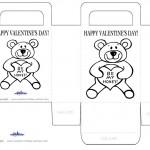 Printable B&W Teddy Bear Valentine's Day Favorbag