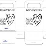 Printable B&W Heart Valentine's Day Favorbag