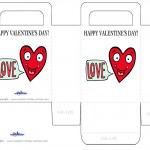 Printable Colored Heart Valentine's Day Favorbag
