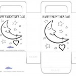 Printable B&W Moon Valentine's Day Favorbag
