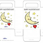 Printable Colored Moon Valentine's Day Favorbag