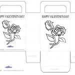 Printable B&W Flowers Valentine's Day Favorbag