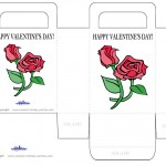 Printable Colored Flowers Valentine's Day Favorbag