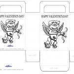 Printable B&W Cupid Valentine's Day Favorbag