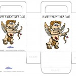Printable Colored Cupid Valentine's Day Favorbag
