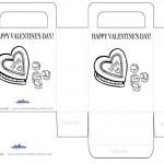 Printable B&W Chocolate Valentine's Day Favorbag