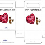 Printable Colored Chocolate Valentine's Day Favorbag