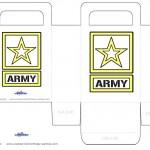 Printable Army Star Favorbag