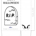 Large Printable Gravestone Favorbag