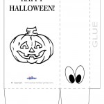 Large Printable Pumpkin 2 Favorbag