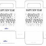 Printable B&W Balloons Favorbag