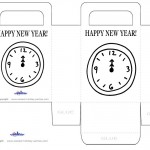 Printable B&W Clock Favorbag