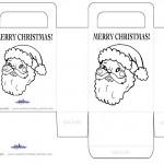 Printable B&W Santa Face Favorbag