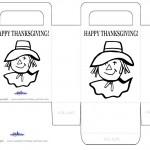 Printable B&W Scarecrow Favorbag