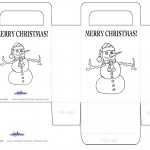 Printable B&W Snowman Favorbag