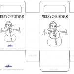 Printable B&W Snowman Favorbag