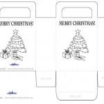 Printable B&W Tree Favorbag