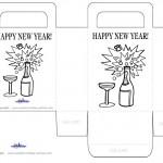 Printable B&W Wine Favorbag
