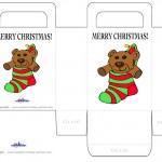 Printable Colored Bear Favorbag
