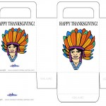 Printable Colored Indian Face 1 Favorbag