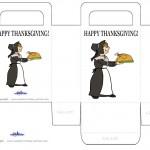 Printable Colored Pilgrim Favorbag