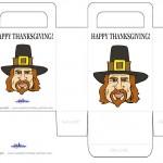 Printable Colored Pilgrim Face Favorbag