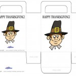 Printable Colored Pilgrim Face 1 Favorbag