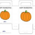 Printable Colored Pumpkin 1 Favorbag