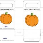 Printable Colored Pumpkin 1 Favorbag