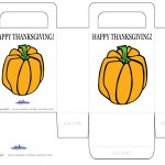 Printable Colored Pumpkin 2 Favorbag