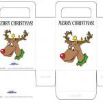 Printable Colored Reindeer Favorbag