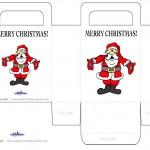 Printable Colored Santa 1 Favorbag
