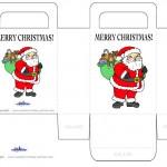 Printable Colored Santa 2 Favorbag