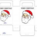 Printable Colored Santa Face Favorbag