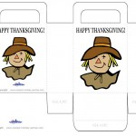 Printable Colored Scarecrow Favorbag