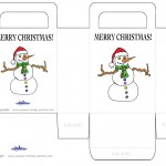 Printable Colored Snowman Favorbag