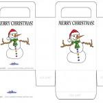 Printable Colored Snowman Favorbag