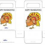 Printable Colored Turkey 1 Favorbag